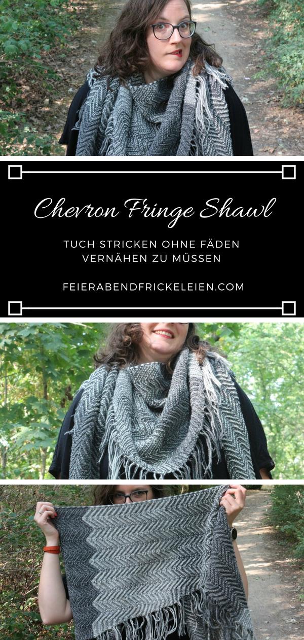 Chevron Fringe Shawl 2
