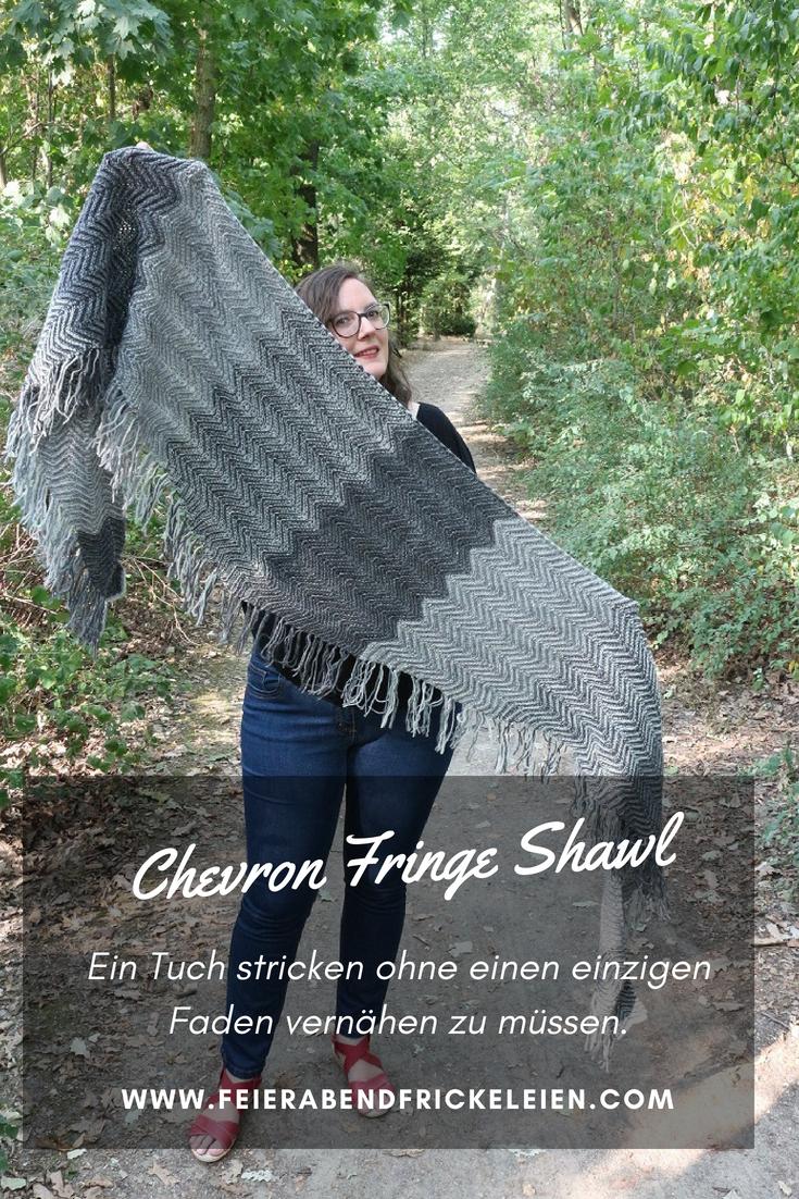 Chevron Fringe Shawl 3