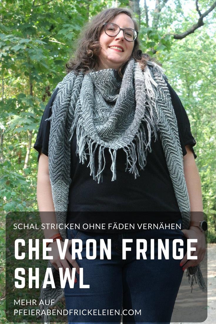 Chevron Fringe Shawl