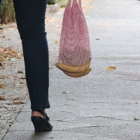 Trend-Lemming: Edda, ein gestricktes Einkaufsnetz