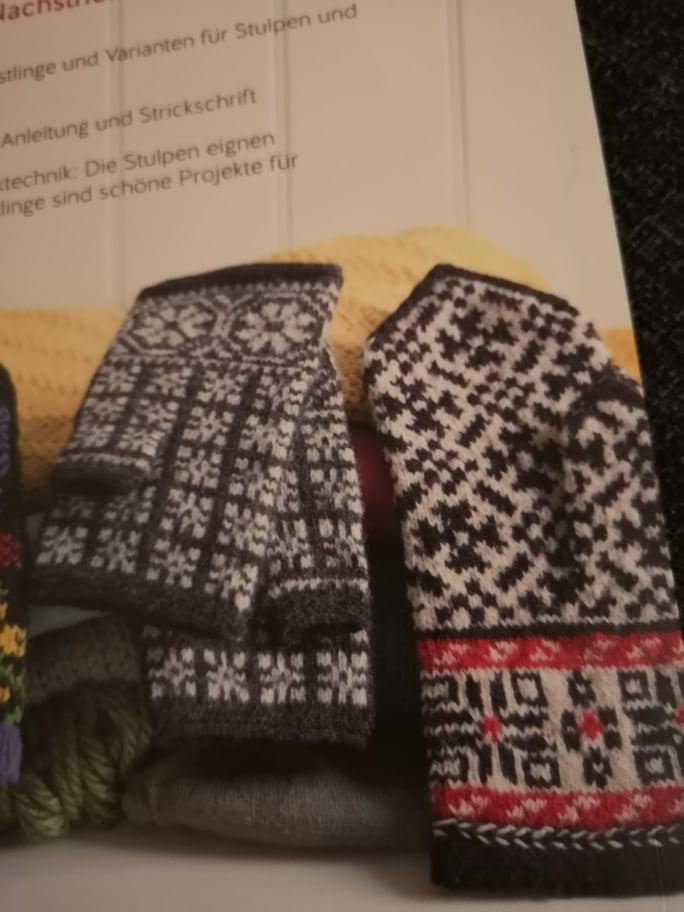 Rezension Lettisch stricken Handschuhe Stulpen (1)